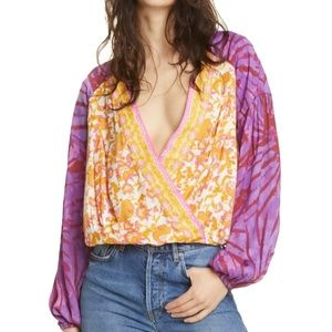 FREE PEOPLE Cruising Together Print Top